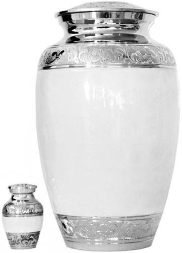 011-A - Brass Urn<br>Velvet Box plus<br>1 Keepsake