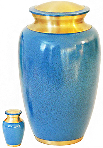 172-A - Brass Urn<br>Velvet Box plus<br>1 Keepsake<br>